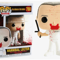 Pop Movies 3.75 Inch Action Figure The Silence Of The Lambs - Bloody Hannibal Lector with Baton #788