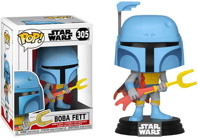 Pop Star Wars 3.75 Inch Action Figure Star Wars - Boba Fett Animated #305 Exclusive