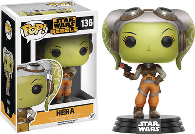 Pop Star Wars Star Wars Rebels 3.75 Inch Action Figure - Hera #136