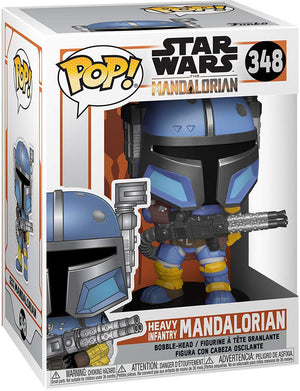 Pop Star Wars 3.75 Inch Action Figure The Mandalorian - Heavy Infantry Mandalorian #348