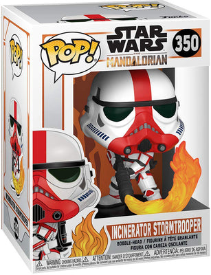 Pop Star Wars 3.75 Inch Action Figure The Mandalorian - Incinerator Stormtrooper #350