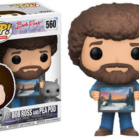 Pop Television 3.75 Inch Action Figure Bob Ross - Bob Ross And Pea Pod #560 Exclusive