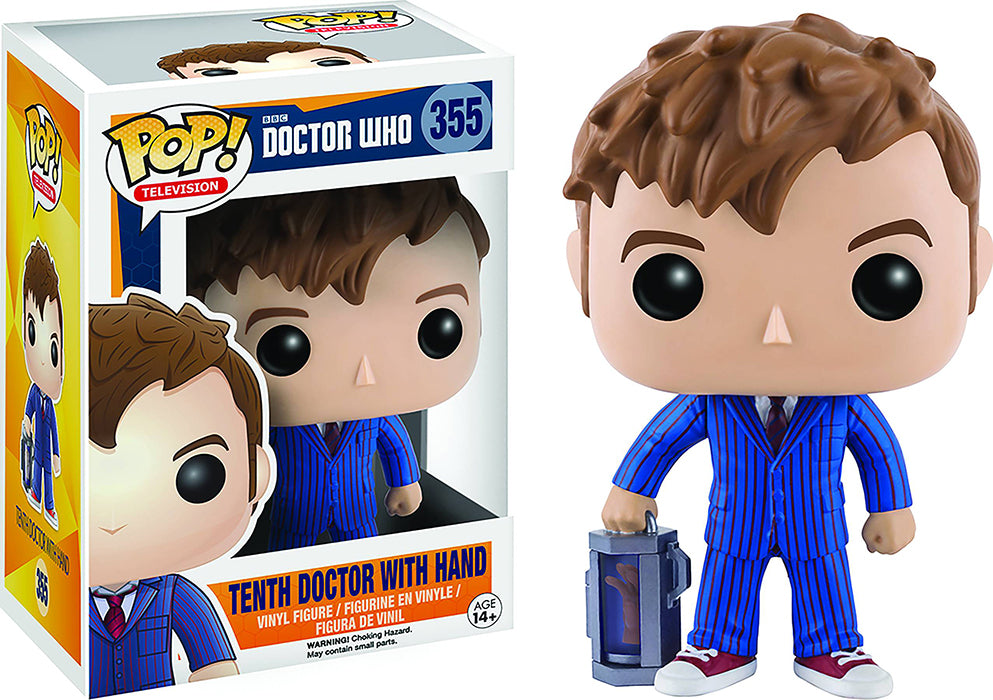 Pop Television Doctro Who 3.75 Inch Action Figure - Tenth Doctor With Hand #355