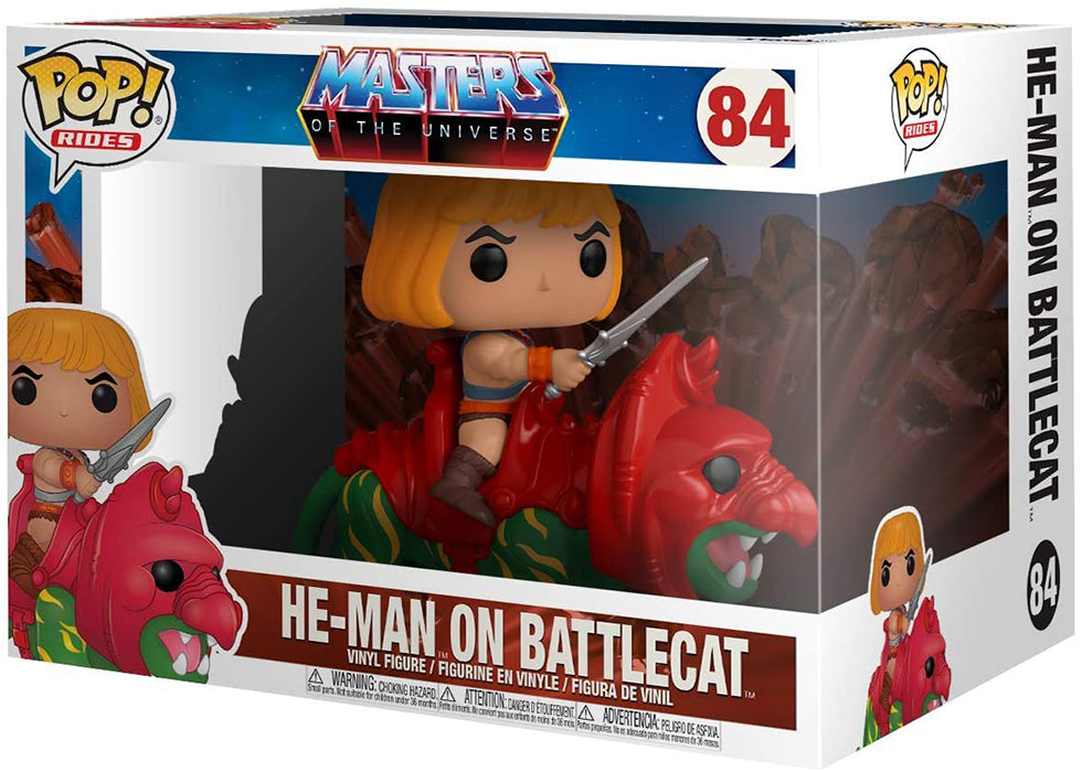 Pop Television Masters Of The Universe 3.75 Inch Action Figure - He-Man on Battlecat #84