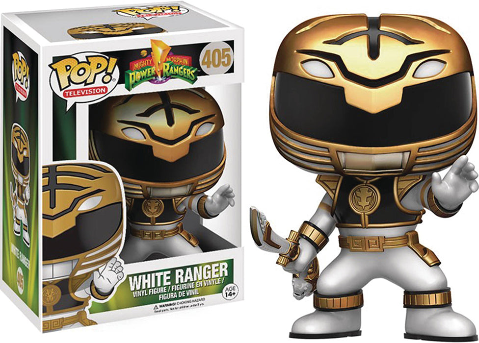 Pop Television Power Rangers 3.75 Inch Action Figure - White Ranger #405