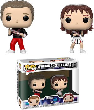 Pop Television 3.75 Inch Action Figure Saturday Night Live - Spartan Cheerleaders 2-Pack