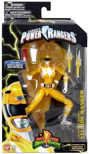 Power Rangers Legacy Collection 6 Inch Action Figure Exclusive - Yellow Ranger Metallic
