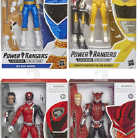 Power Rangers 6 Inch Action Figure Lightning Collection - Set of 4 (MMPR Yellow - SPD Red - Blaze - Zeo Blue)