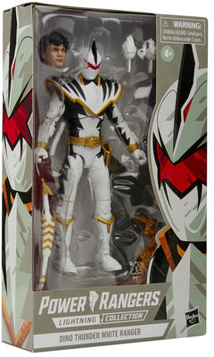 Power Rangers 6 Inch Action Figure Lightning Collection - Dino Thunder White Ranger