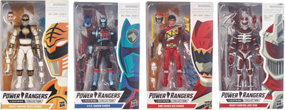 Power Rangers Lightning Collection 6 Inch Action Figure Series 1 - Set of 4 (White - Lord Zedd - Shadow - Dino Red)