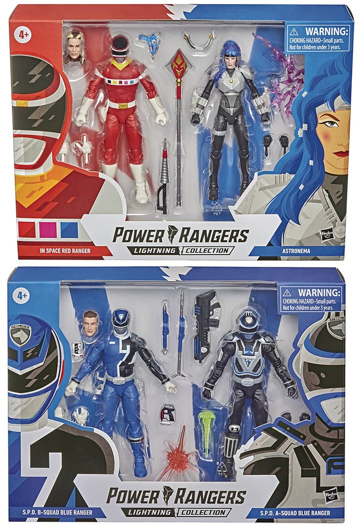 """Power Rangers Lighting PRE ORDER NO ASTRONEMA ONLY RED 6/"""" Figure In Space Red"""