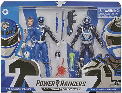 Power Rangers Lightning Collection 6 Inch Action Figure Wave 1 2-Pack - SPD A vs B Squad Blue Ranger