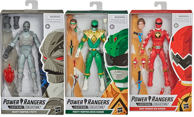 Power Rangers 6 Inch Action Figure Lightning Collection Wave 7 - Set of 3 (Z Putty - Red Ranger - Green Ranger)