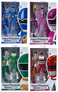 Power Rangers Lightning Collection 6 Inch Action Figure Wave 8 - Set of 4 (Dino Blue - SPD Pink - Lost Red - Zeo Green)
