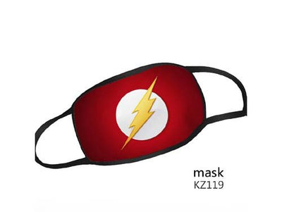 Reusable Washable Face Mask DC Comics The Flash Adult Size Mask - Flash Logo