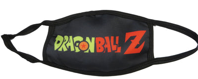 Reusable Washable Face Mask Dragonball Z Adult Size Mask - DBZ Logo