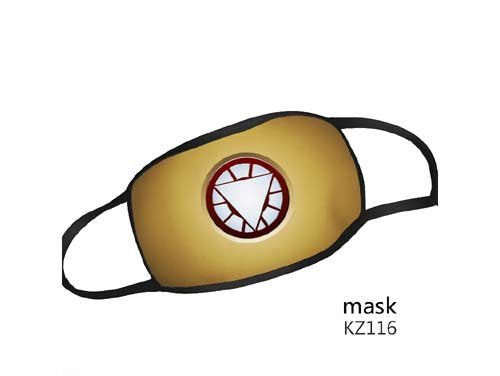 Reusable Washable Face Mask Marvel Comics Iron Man Adult Size Mask - Iron Man Chest Logo