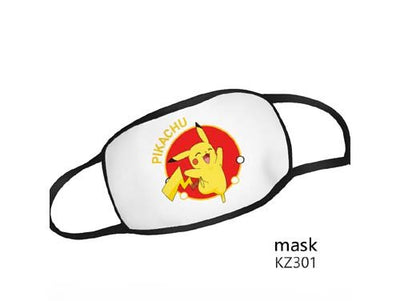 Reusable Washable Face Mask Pokemon Adult Size Mask - Happy Pikachu