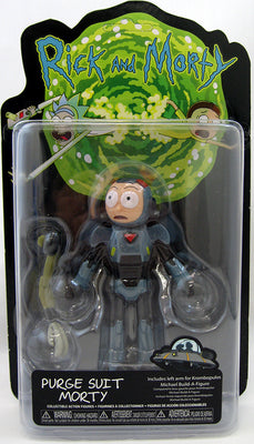 Rick & Morty 5 Inch Action Figure Krombopulos Michael BAF Series - Purge Suit Morty