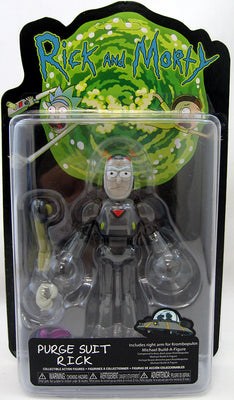 Rick & Morty 5 Inch Action Figure Krombopulos Michael BAF Series - Purge Suit Rick