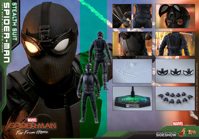 Spider-Man Far From Home 12 Inch Action Figure Movie Masterpiece 1/6 Scale - Spider-Man (Stealth Suit) Hot Toys 904857