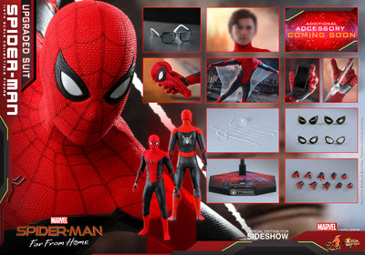 Spider-Man Far From Home 12 Inch Action Figure Movie Masterpiece 1/6 Scale - Spider-Man (Upgraded Suit) Hot Toys 904867