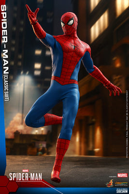 Spider-Man video game 12 Inch Action Figure 1/6 Scale - Spider-Man (Classic Suit) Hot Toys 907439