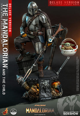 Star Wars The Mandalorian 18 Inch Action Figure 1/4 Scale Deluxe - The Mandalorian and The Child Deluxe Hot Toys 907266