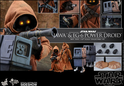 Star Wars 8 Inch Action Figure 1/6 Scale Series - Jawa & EG-6 Power Droid Hot Toys 904942