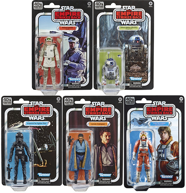 Star Wars 40th Anniversary 6 Inch Action Figure (2020 Wave 2) - Set of 5