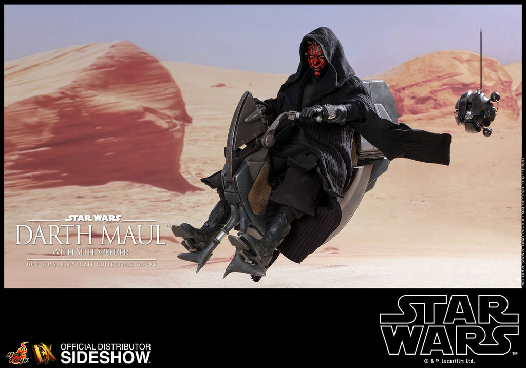 Star Wars The Phantom Menace 12 Inch Figure Deluxe 1/6 Scale Series - Darth Maul with Sith Speeder Hot Toys 903737