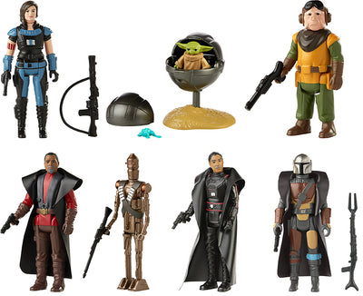 Star Wars Retro Collection 3.75 Inch Action Figure Mandalorian Wave  Set of 7