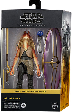 Star Wars The Black Series Box Art 6 Inch Action Figure Deluxe - Jar Jar Binks