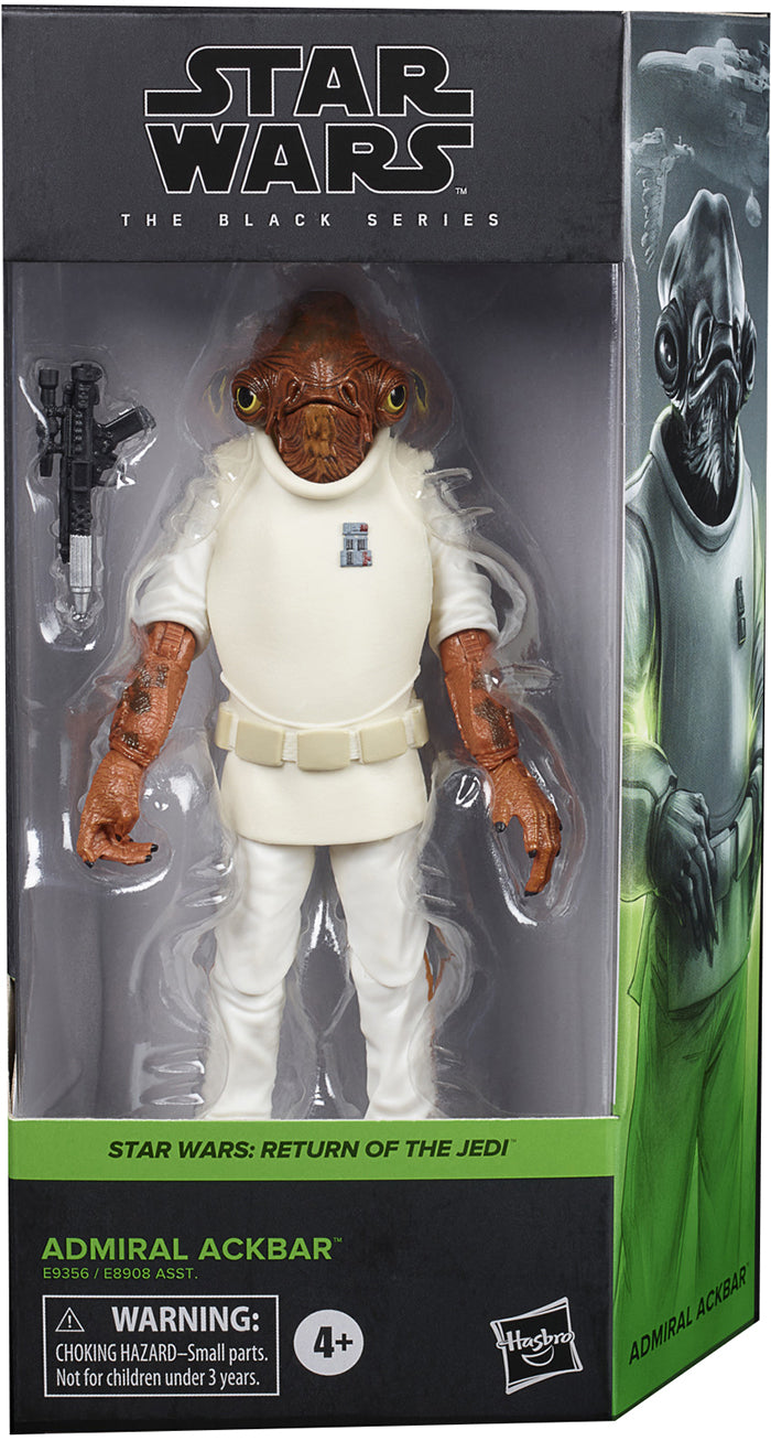 Star Wars The Black Series Box Art 6 Inch Action Figure Wave 1 Green - Admiral Ackbar #01