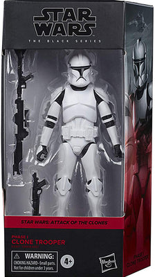 Star Wars The Black Series Box Art 6 Inch Action Figure Wave 2 Red - Clone Trooper Phase I