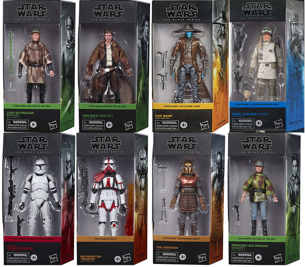 Star Wars The Black Series Box Art 6 Inch Action Figure Wave 2 - Set of 8