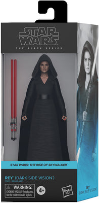 Star Wars The Black Series Box Art 6 Inch Action Figure Wave 3 Blue - Rey Dark Side Vision