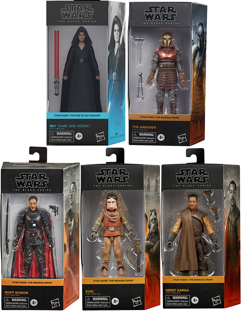 Star Wars The Black Series Box Art 6 Inch Action Figure Wave 3 - Set of 5