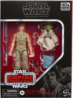 Star Wars The Black Series 6 Inch Action Figure Deluxe - Luke Skywalker & Yoda (Jedi Training)