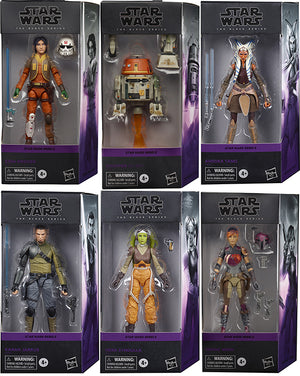 Star Wars The Black Series 6 Inch Action Figure Rebels Series - Set of 6 (Does not include Zeb)