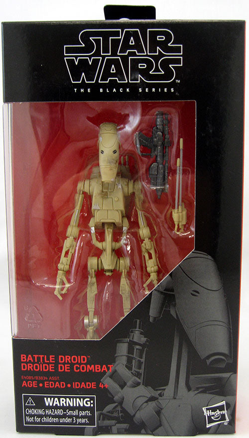 Star Wars The Black Series 6 Inch Action Figure Wave 31 - Battle Droid #83 (Shelf Wear Packaging)