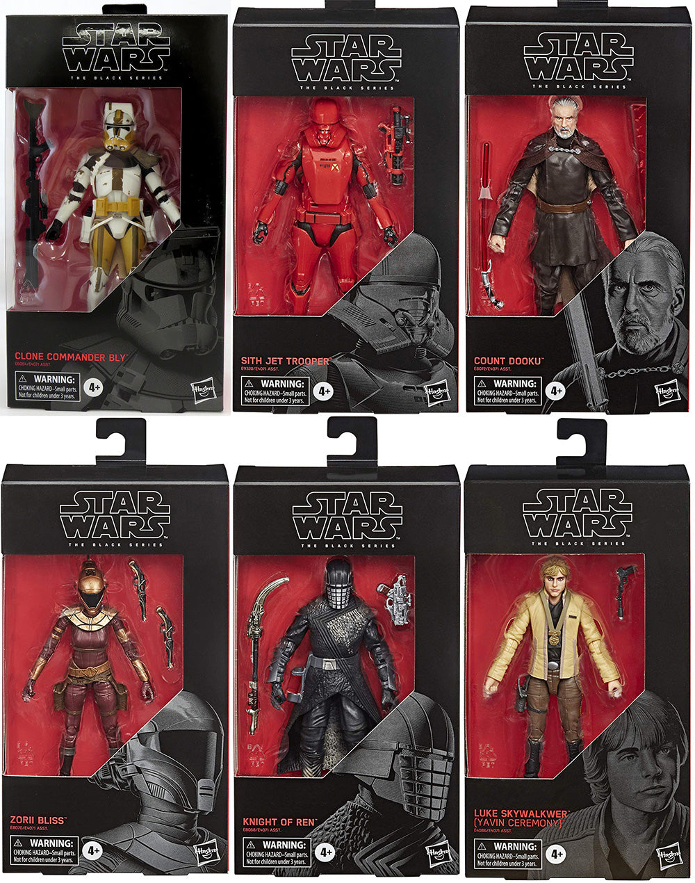 Star Wars The Black Series 6 Inch Action Figure Wave 35 - Set of 6 (#100 & #103 - #107)