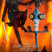 Star Wars The Clone Wars 12 Inch Action Figure 1/6 Scale Series - Anakin Skywalker and STAP