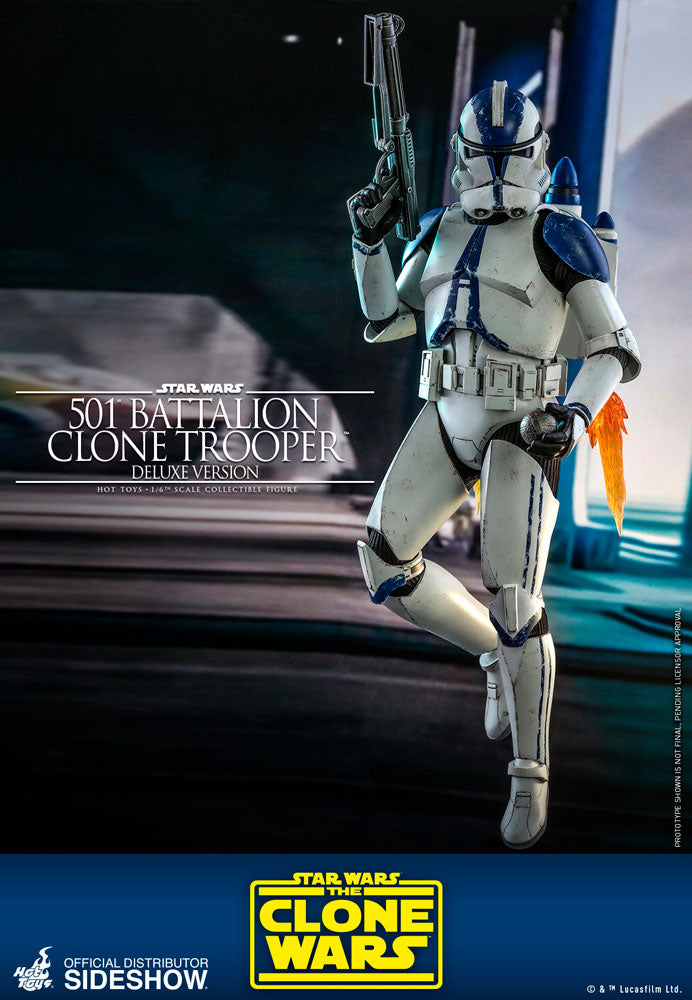 Star Wars The Clone Wars 12 Inch Action Figure 1/6 Scale - 501st Battalion Clone Trooper (Deluxe) Hot Toys 906959