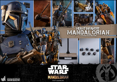 Star Wars The Mandaloria 12 Inch Action Figure 1/6 Scale Series - Heavy Infantry Mandalorian Hot Toys 905580