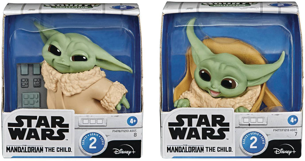 "Star Wars The Mandalorian The Bounty Collection 2.2"" Figure Series 2 - The Child with Speeder Ride and Touching Buttons"