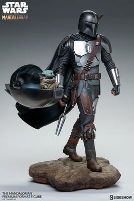 Star Wars The Mandalorian 20 Inch Statue Figure Premium Format - The Mandalorian Sideshow 300786