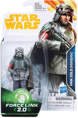 Star Wars Universe 3.75 Inch Action Figure Force Link 2.0 Wave 4 - Han Solo (Mimban)