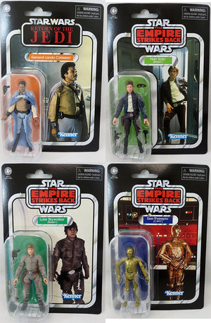 Star Wars The Vintage Collection 3.75 Inch Action Figure (2020 Wave 4) - Set of (Luke 04 - C3PO 06 - Solo 50 - Lando 47)