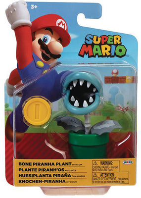 Super Mario World Of Nintendo 4 Inch Action Figure Wave 21 - Bone Piranha Plant
